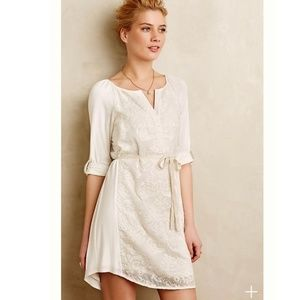Tiny Anthropologie Paperwhites Embroidered Dress